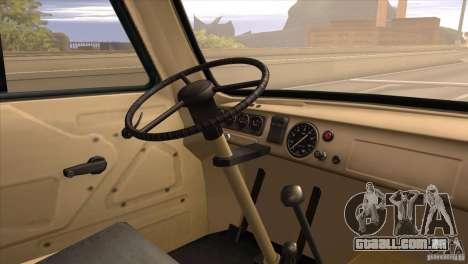 UAZ 450 para GTA San Andreas vista traseira