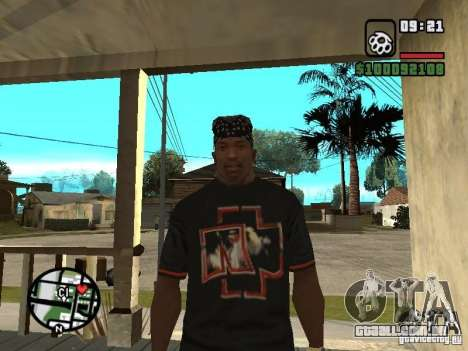 Rammstein t-shirt v2 para GTA San Andreas