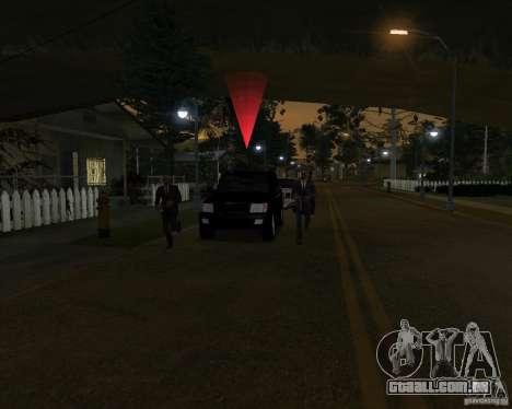 Proteção em um jipe para GTA San Andreas por diante tela