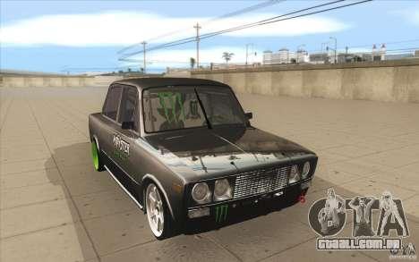 VAZ 2106 Lada Drift afinado para GTA San Andreas vista traseira