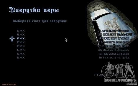 O menu do jogo GTA Nogaystan para GTA San Andreas por diante tela