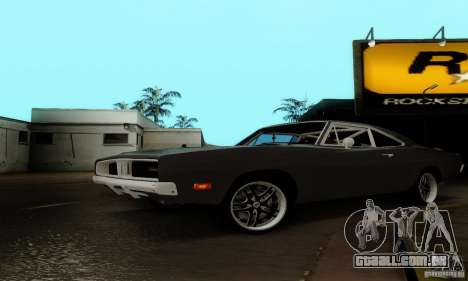 Dodge Charger RT para GTA San Andreas vista traseira