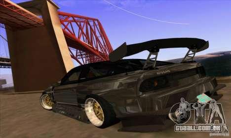 Nissan 180SX Gkon - Drift chrome para GTA San Andreas esquerda vista