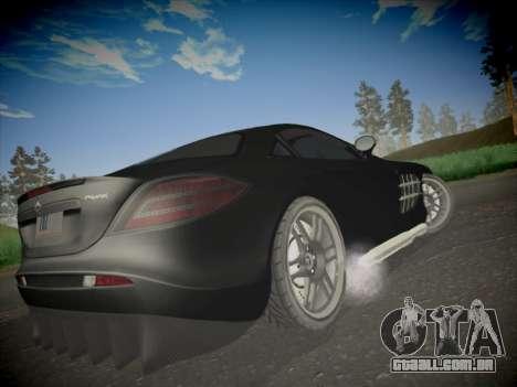 Mercedes-Benz SLR 722 Custom Edition para GTA San Andreas traseira esquerda vista