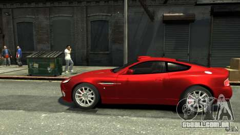 Aston Martin Vanquish S v 2.0 matizado para GTA 4 esquerda vista