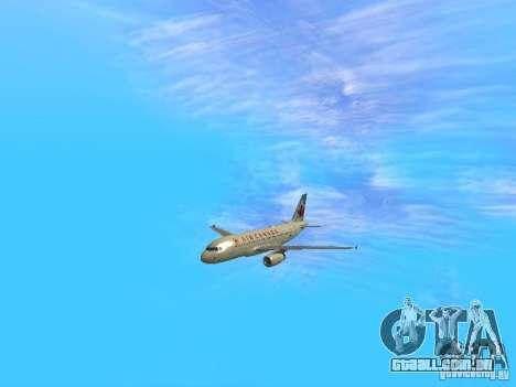 Airbus A319 Air Canada para GTA San Andreas vista traseira