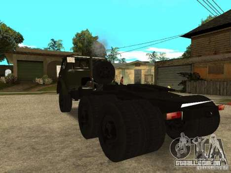 MAZ 515V para GTA San Andreas traseira esquerda vista