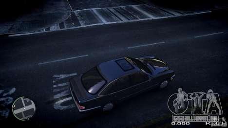 Mercedes w210 1998 (E280) para GTA 4 vista direita