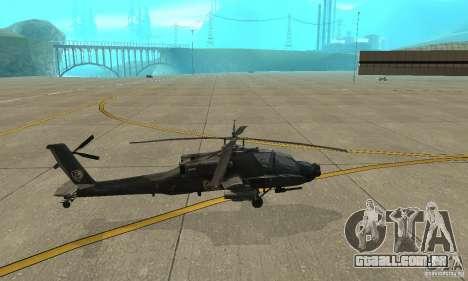 An-64 Apache para GTA San Andreas esquerda vista