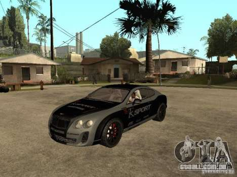 Bentley Continental SS Skin 4 para GTA San Andreas