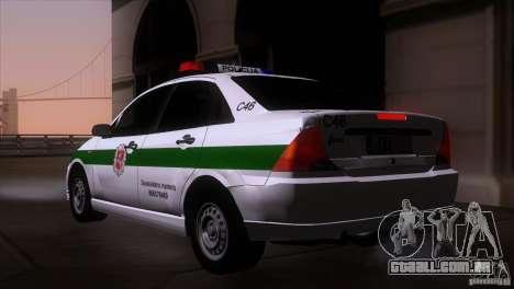 Ford Focus Policija para GTA San Andreas esquerda vista