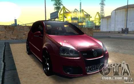 VolksWagen Golf GTI MK5 para GTA San Andreas esquerda vista
