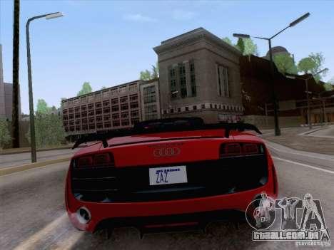 Audi R8 GT Spyder para GTA San Andreas vista direita