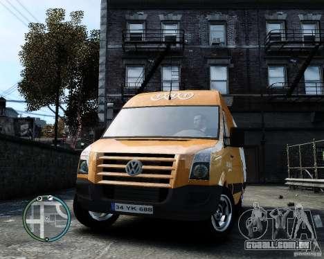 Volkswagen Crafter TNT para GTA 4 vista de volta