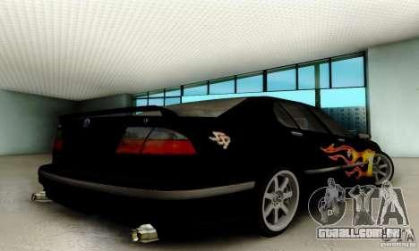 Saab 9-5 Sedan Tuneable para GTA San Andreas vista traseira