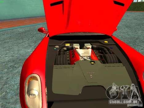 Ferrari 599 GTB para vista lateral GTA San Andreas
