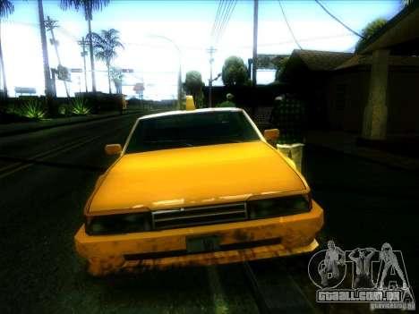Sunrise Taxi para GTA San Andreas vista traseira