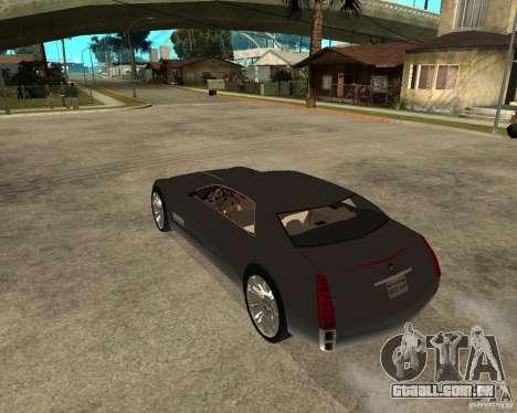 Cadillac Sixteen para GTA San Andreas esquerda vista