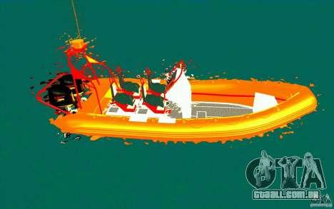 Inferno orange para GTA San Andreas esquerda vista