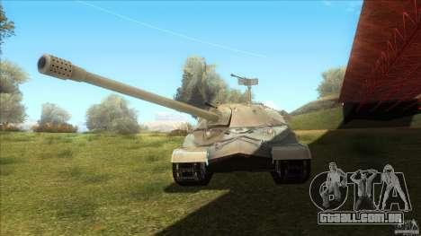 IS-7 Heavy Tank para GTA San Andreas traseira esquerda vista