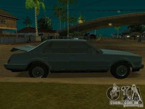 O táxi de romanos de GTA4 para GTA San Andreas vista traseira