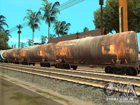 2 vagões para GTA San Andreas traseira esquerda vista