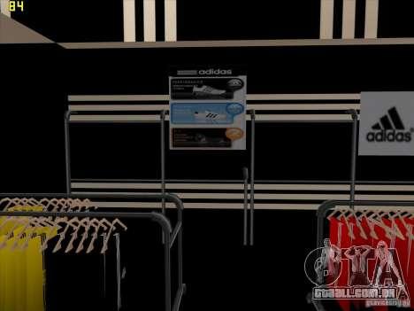 Substituição completa da loja Binco Adidas para GTA San Andreas oitavo tela