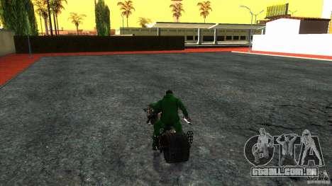 Batpod HQ para GTA San Andreas vista direita