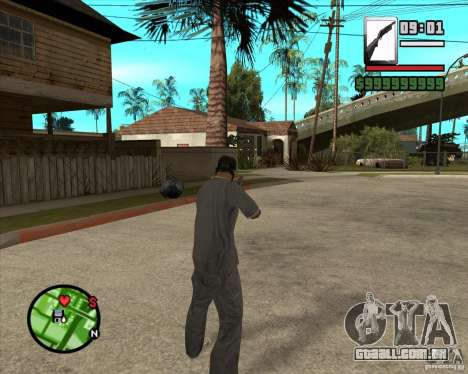 Chromegun para GTA San Andreas terceira tela
