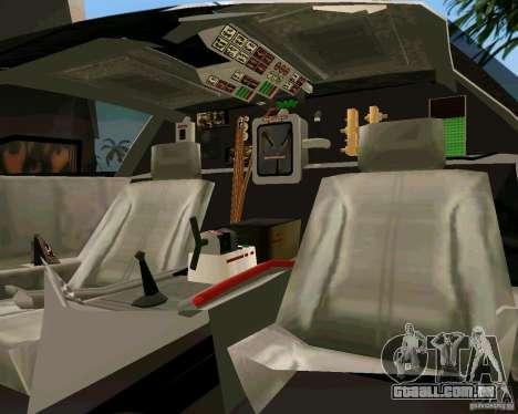 BTTF DeLorean DMC 12 para GTA Vice City vista traseira esquerda