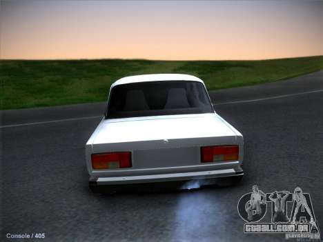 2105 Vaz estoque qualidade para GTA San Andreas traseira esquerda vista