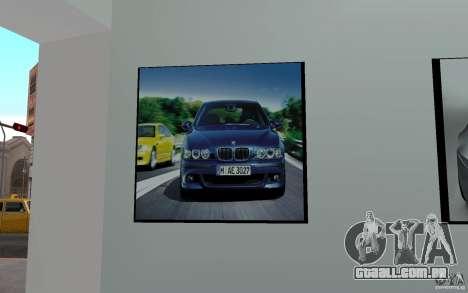 Concessionária BMW para GTA San Andreas por diante tela