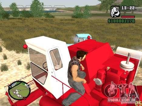 Combinar Niva SK-5 para GTA San Andreas traseira esquerda vista