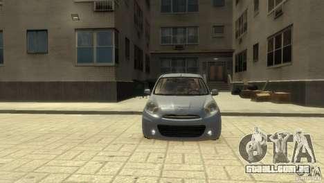 Nissan Micra para GTA 4 esquerda vista