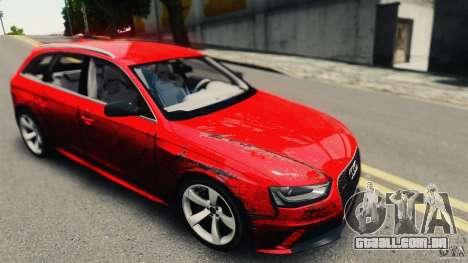 Audi RS4 Avant 2013 v2.0 para GTA 4 vista de volta