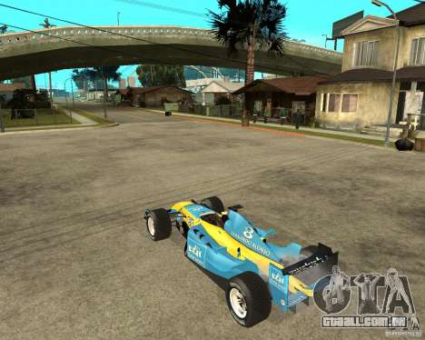 Renault F1 para GTA San Andreas esquerda vista