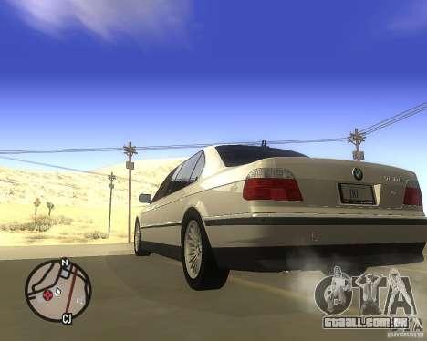 BMW 750il Limuzin para GTA San Andreas esquerda vista
