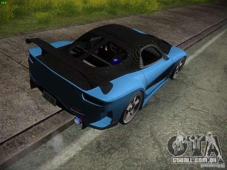 Mazda RX 7 Veil Side para GTA San Andreas vista direita