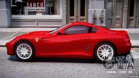 Ferrari 599 GTB Fiorano para GTA 4 traseira esquerda vista