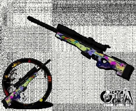 Sniper Grafite para GTA San Andreas