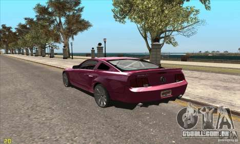 Ford Shelby GT500KR Super Snake para GTA San Andreas vista traseira