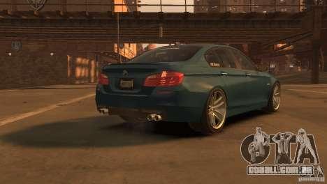 BMW 535i M-Sports para GTA 4 esquerda vista