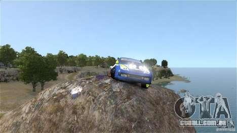 Subaru Impreza WRX STI Rallycross BFGoodric para GTA 4 vista de volta