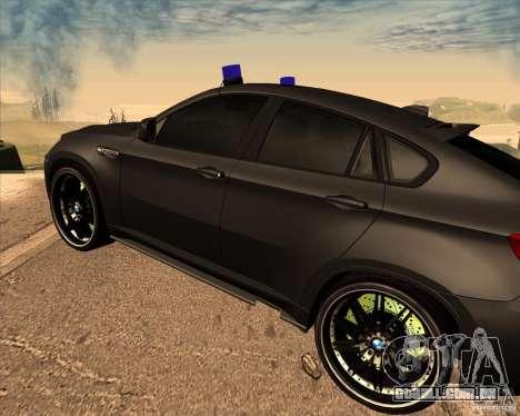 BMW X6 M E71 para GTA San Andreas vista direita