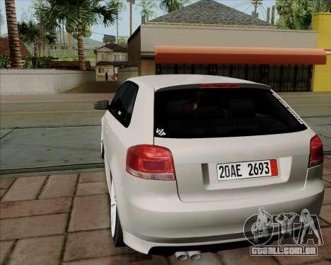 Audi S3 V.I.P para GTA San Andreas vista direita