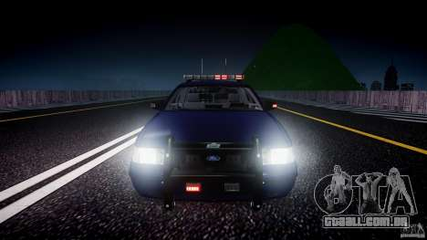 Ford Crown Victoria Homeland Security [ELS] para GTA 4 motor