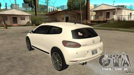 Volkswagen Scirocco 2009 para GTA San Andreas traseira esquerda vista
