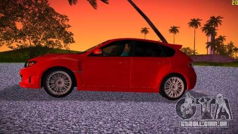 Subaru Impreza WRX STI (GRB) - LHD para GTA Vice City deixou vista