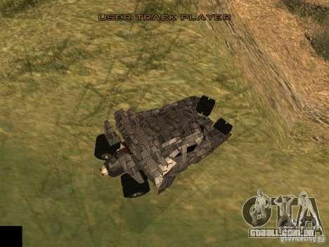 Batman Car para GTA San Andreas traseira esquerda vista