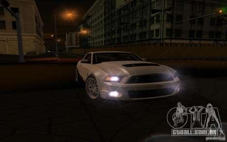 Shelby Mustang 1000 2012 para GTA San Andreas traseira esquerda vista